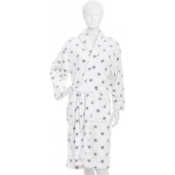 Халат женский La Nuit Star белый M + обувь