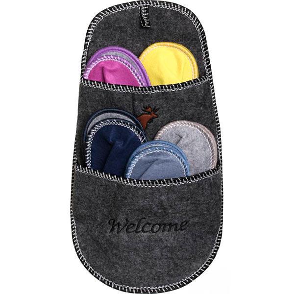 Набор тапочек для гостей Welcome Grey 5 пар