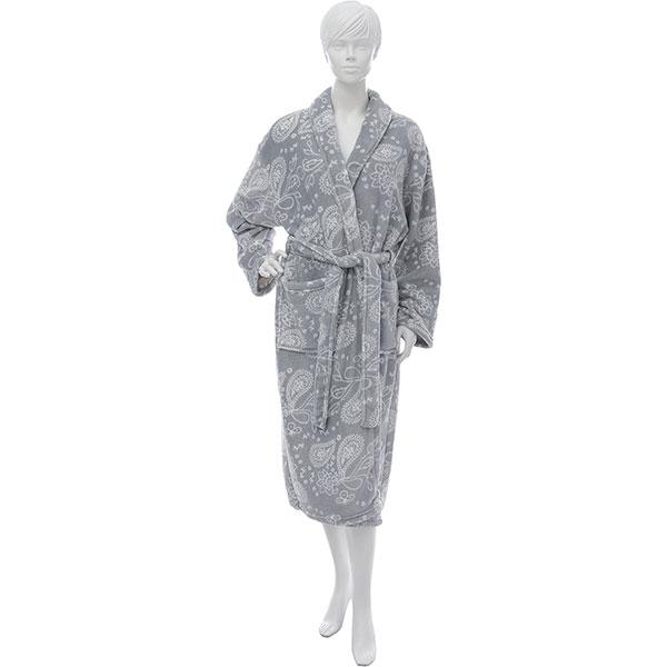 Халат женский La Nuit Plume серый L + обувь