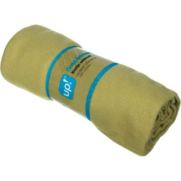 Плед флисовый Underprice зеленый 150x180 см