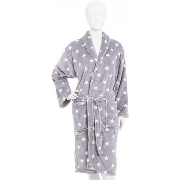 Халат женский La Nuit Star серый XL + обувь