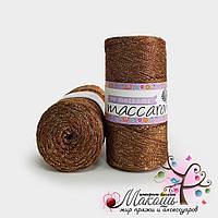 Пряжа Maccaroni PP Макраме с глитером, 1316, шоколадный