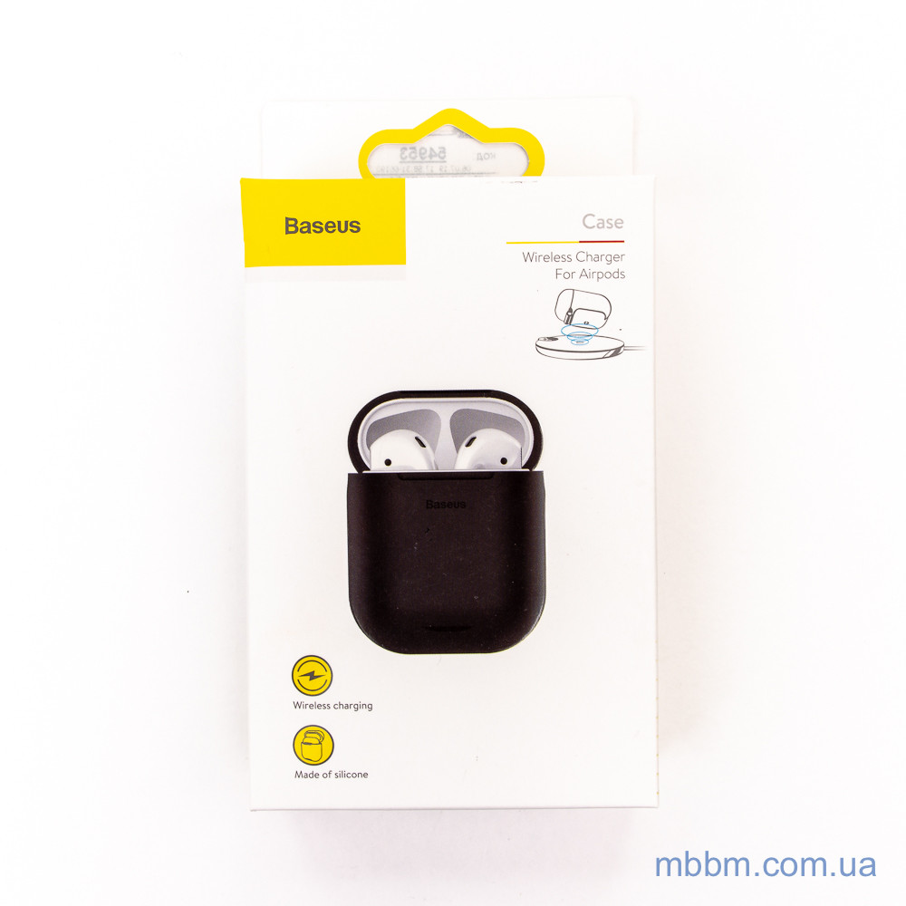Baseus Wireless Charger silicone AirPods black Apple baseus
