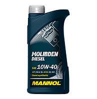 Всесезоннанапів синтетичнамоторнаолива MANNOL Molibden Diesel 10W-40 API CG-4/SL  1л.