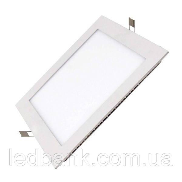 Светильник светодиодный Biom PL-S12 W 12Вт DownLight квадратный белый