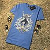 Мужская летняя футболка в стиле Givenchy синяя
