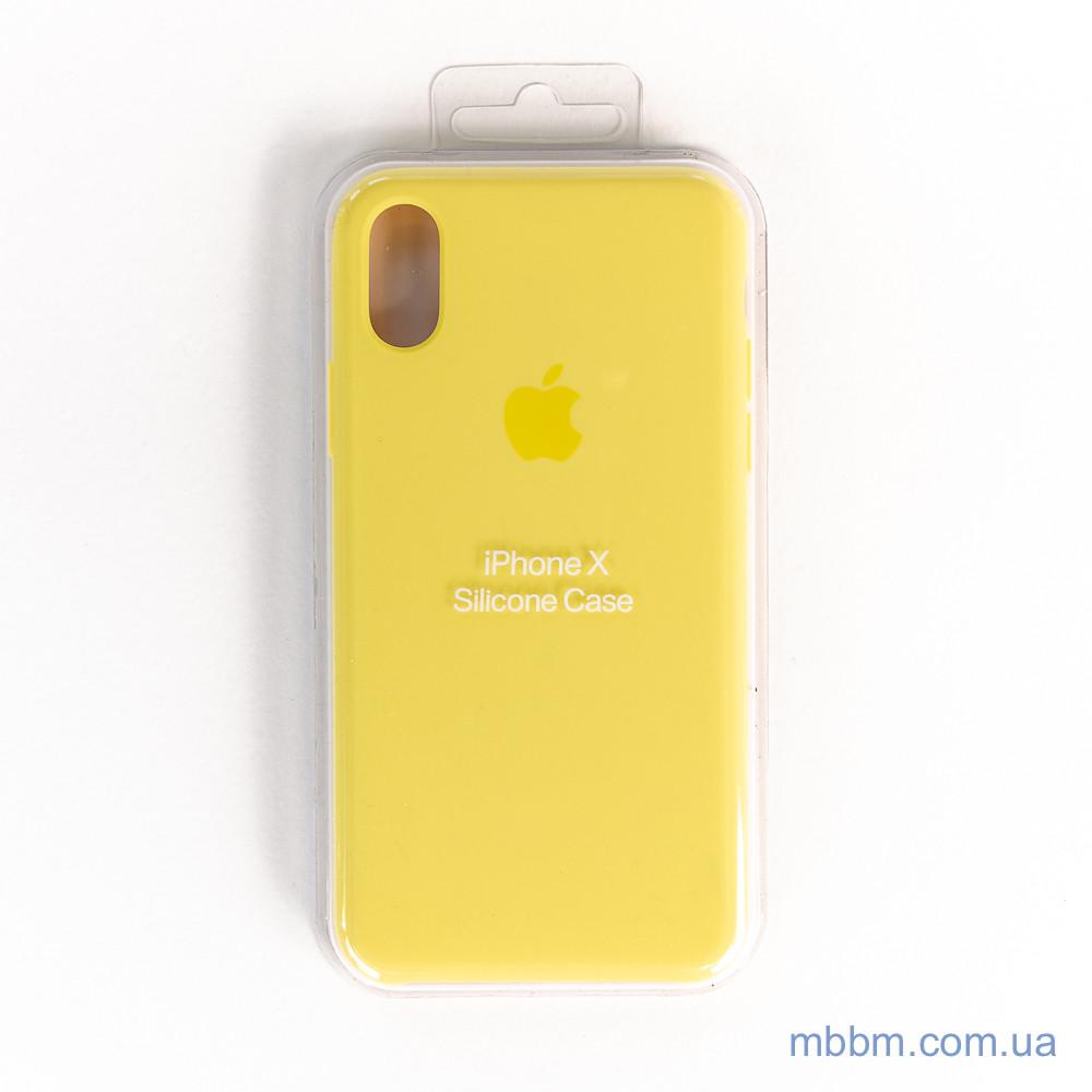 """Накладка Apple iPhone Xs / X {5.8 """"} yellow [копія]"""