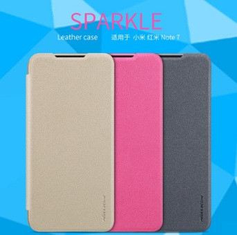 Чехол-книжка Nillkin Sparkle Series для Huawei Y7 2019 (2 цвета)