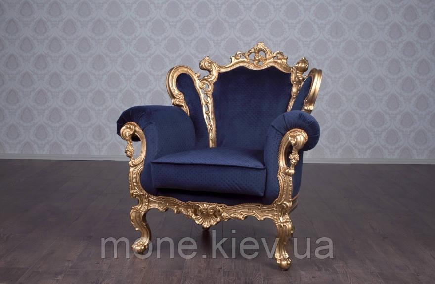 """Кресло в стиле барокко """"Изабелла"""" в ткани"""