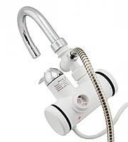 Проточный водонагреватель-кран с боковым подключением