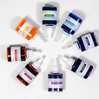 Комплект из 8 жидких красителей, синий, бирюзовый, желтый, черный, фиолетовый, вишневый, оранжевый, зеленый - 152557