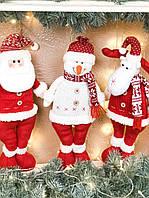 Новогодние украшения в виде деда Мороза, снеговика и оленя «Крутое трио» , фото 1