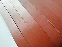 Кожаная  ременная полоса, цвет коньяк (рыжий) 40мм