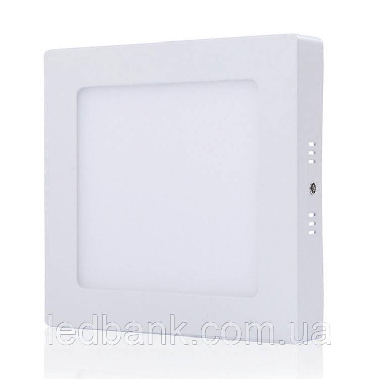 Cветодиодный светильник накладной 12 Вт Wall Light-12 квадрат
