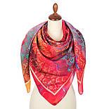 10827-3, павлопосадский платок из вискозы с подрубкой, фото 3