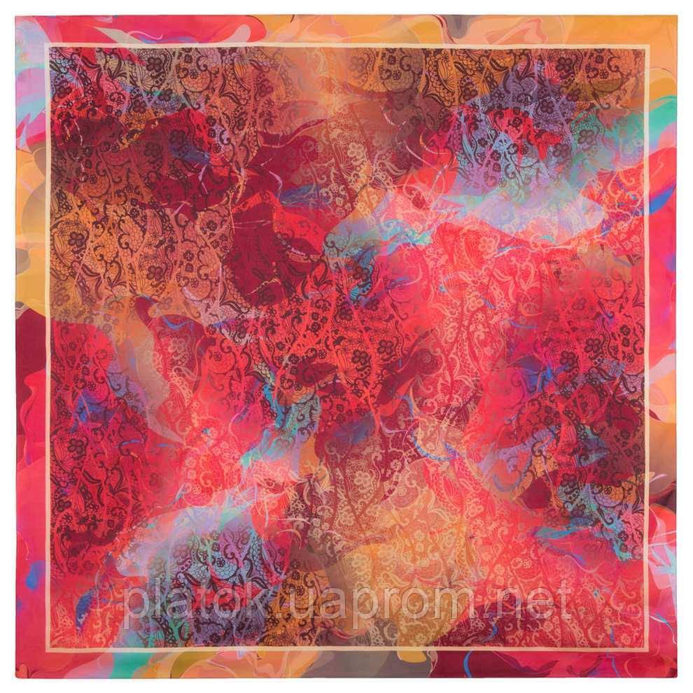 10827-3, павлопосадский платок из вискозы с подрубкой