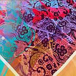 10827-3, павлопосадский платок из вискозы с подрубкой, фото 5