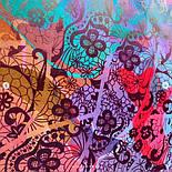 10827-3, павлопосадский платок из вискозы с подрубкой, фото 6
