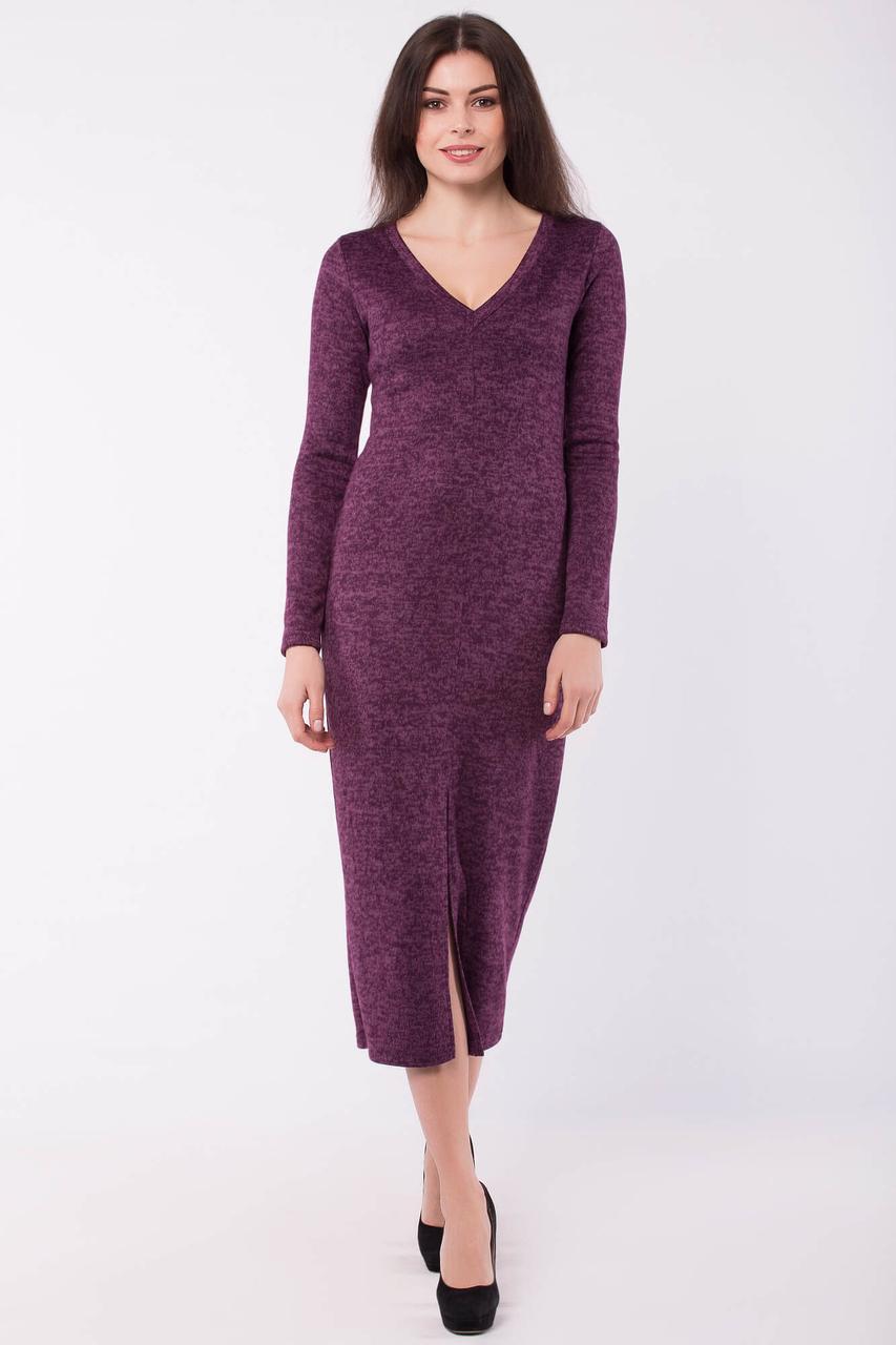 Силуэтное платье CELESTE длиной ниже колена с большим разрезом спереди