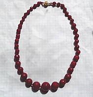 Ожерелье 100% натуральный рубин граненый шар 6-16 мм вес 48г
