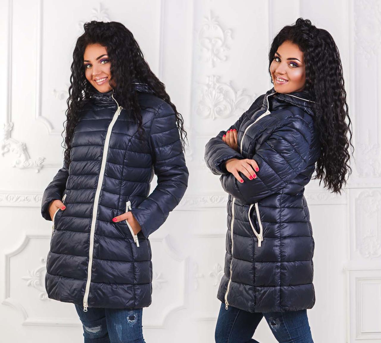 Зимняя женская куртка холлофайбер в больших размерах (DG-с2951)