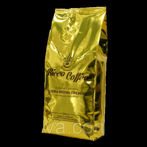 Кофе в зернах  Ricco Coffee Crema Aroma Italiano,  1кг, фото 2