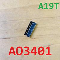 Микросхема AO3401 A19T