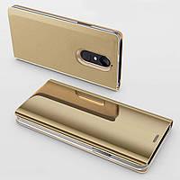 Чехол Mirror для Xiaomi Redmi Note 4 / Note 4 Pro (Mediatek) книжка Gold
