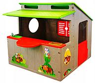 Детский игровой домик Mochtoys 020 с кухней  (игровой домик для улицы и дома, детская кухня)