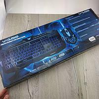 Игровой комплект клавиатура+мышь V-100 для ПК компьютера и ноутбука геймерский комплект
