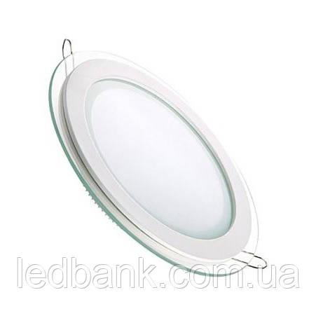 Светодиодный LED светильник 12W Glass Rim-12 круглый