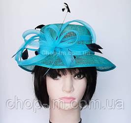 """Шляпа женская """"Совершенство"""" бирюзовая"""