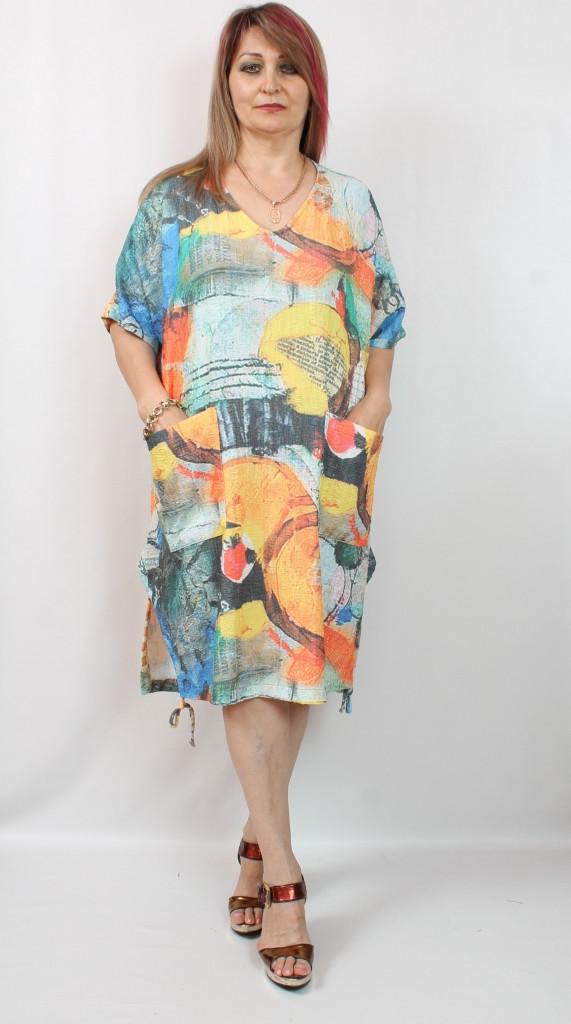 Турецкое летнее женское платье больших размеров 58-70