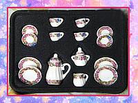 Фарфоровый чайный сервиз для кукол