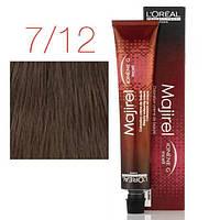 Крем-краска L'Oreal Professionnel Majirel 7,12, блондин натуральный пепельно - перламутровый, 50 мл