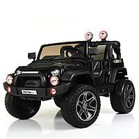 Детский электромобиль Джип Jeep Wrangler M 4111 EBLR-2 черный (белый, красный), колеса EVA, двухместный.