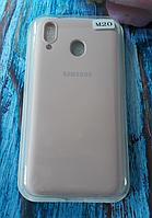 Чехол для Samsung M205, Galaxy M20 силиконовый с мягким внутренним покрытием, розовый