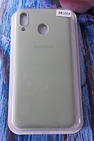 Чехол для Samsung M205, Galaxy M20 силиконовый с мягким внутренним покрытием, оливковый
