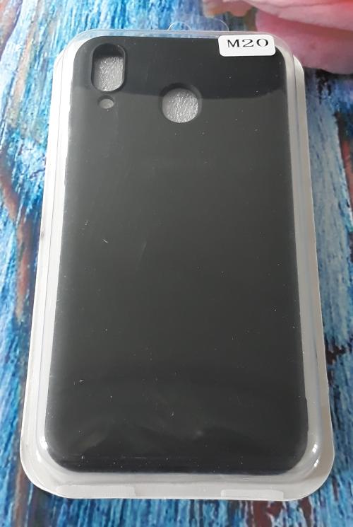 Чехол для Samsung M205, Galaxy M20 силиконовый с мягким внутренним покрытием, черный