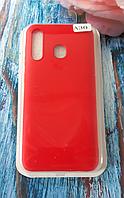 Чехол для Samsung A305, Galaxy A30 силиконовый с мягким внутренним покрытием, красный