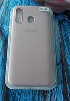 Чехол для Samsung A305, Galaxy A30 силиконовый с мягким внутренним покрытием, розовый