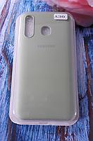 Чехол для Samsung A305, Galaxy A30 силиконовый с мягким внутренним покрытием, оливковый