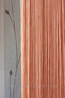 Шторы-нити кисея Однотонная Люкс №209 персиковый