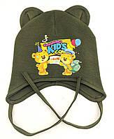Оптом шапки 44 46 и 48 размер трикотажная детская шапка головные уборы детские опт, фото 1