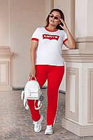 Трикотажный женский спортивный костюм батал, фото 1
