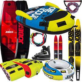 Водные аттракционы: лыжи вейкборды мультиборды буксируемые аттракционы шлемы фал-веревки