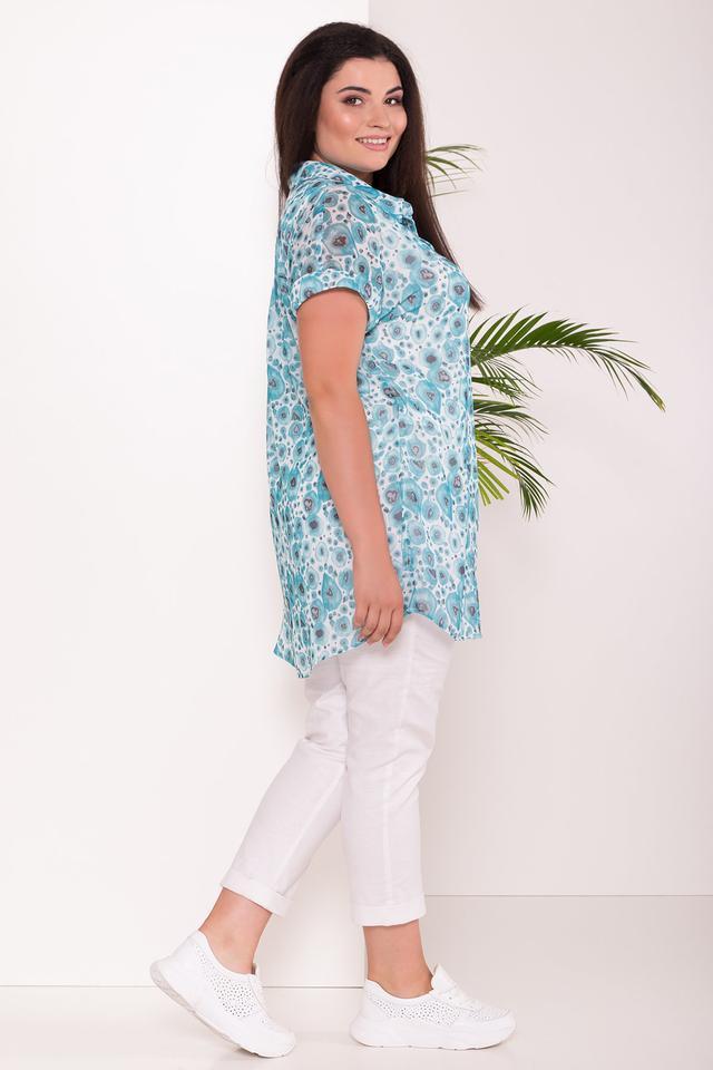 Фото-1 Батального женский летнего костюма тройки Аланья