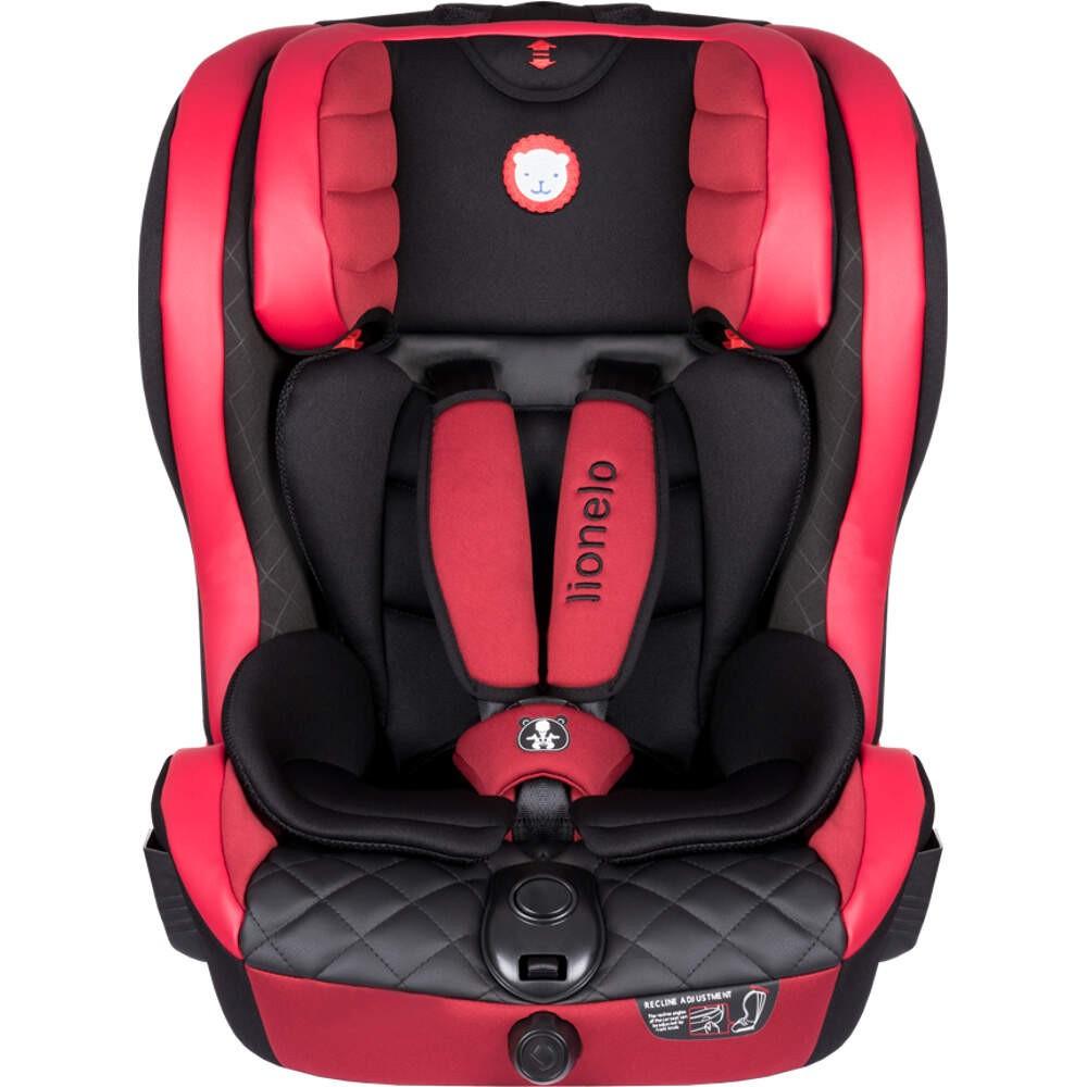 Дитяче автокрісло Lionelo JASPER ISOFIX від 9 до 36 кг Червоне (Крісло дитяче для машини)