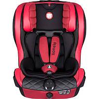 Дитяче автокрісло Lionelo JASPER ISOFIX від 9 до 36 кг Червоне (Крісло дитяче для машини), фото 1