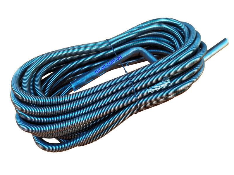 Сантехнический трос крот 10 мм 15 м для чистки канализационных труб, унитазов, стояков